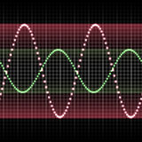 Equalizer. Seamless Background of Soundwave Equalizer Music Beats Royalty Free Stock Photography
