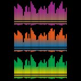 Equalizer. Set With Colorful Bars Stock Images