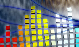 Equalizer. An abstract picture of musical environment Royalty Free Stock Photography
