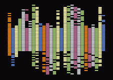 Equalizer. Graphic equalizer on black background Stock Photography