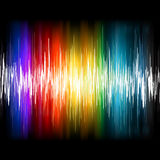 Equalizer Abstract Sound Waves. EPS 8 Royalty Free Stock Photos
