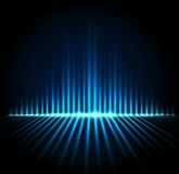 Equalizer on abstract technology background Royalty Free Stock Photography