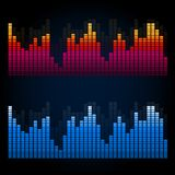 Equalizer on abstract technology background Royalty Free Stock Photo