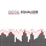 Equalizer on abstract technology background Royalty Free Stock Image