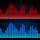 Equalizer on abstract technology background Royalty Free Stock Images
