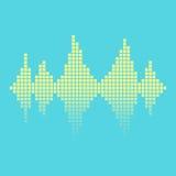 Equalizer background. Equalizer on blue background. vector illustration Stock Photo
