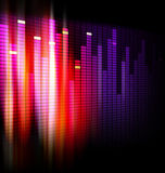 Equalizer background design Royalty Free Stock Photos