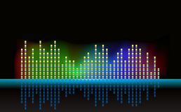 Equalizer background vector Stock Photos