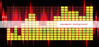 Equalizer baner Royalty Free Stock Photo
