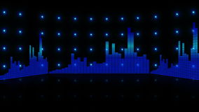 Equalizer bar frequency background 4K stock footage