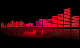 Equalizer bar on a shiny surface Royalty Free Stock Photography