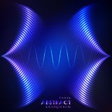 Equalizer blue wavy background. Equalizer blue background. Music wave, vector illustration Royalty Free Stock Photos