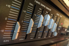 Equalizer buttons Royalty Free Stock Image