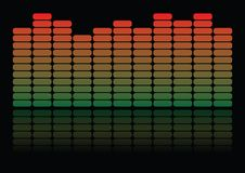 Equalizer, colorful equalizer on black background with reflection Stock Image