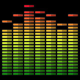 Equalizer on dark background Royalty Free Stock Photos