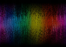 Equalizer digital color display Royalty Free Stock Photos