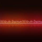 Equalizer Dots. Music equlizer background for active nighttime events stock illustration