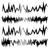Equalizer EQ, Equalizer lines in zig-zag, irregular style. Royalty free vector illustration Stock Images