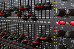 Equalizer. The equalizer frequency of the screening device makes a sound Stock Images