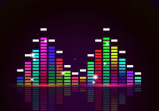 Equalizer Funky Music Poster Stock Photography