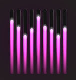 Equalizer glossy glowing track bar Royalty Free Stock Photography