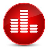 Equalizer icon elegant red round button Royalty Free Stock Photography
