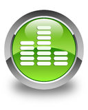 Equalizer icon glossy green round button Royalty Free Stock Image
