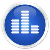 Equalizer icon premium blue round button Royalty Free Stock Images