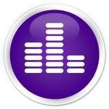 Equalizer icon premium purple round button Stock Image