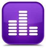 Equalizer icon special purple square button Royalty Free Stock Images
