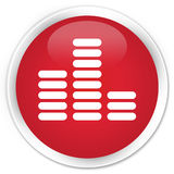 Equalizer icon premium red round button Royalty Free Stock Image
