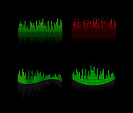 Equalizer  icon set. Abstract  dj equalizer  icon Royalty Free Stock Photography