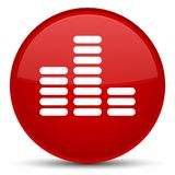 Equalizer icon special red round button Stock Photos