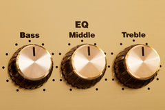 Equalizer knobs Royalty Free Stock Photos