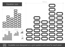 Equalizer line icon. Stock Image