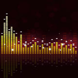 Equalizer Music Background Stock Images