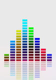 Equalizer Music Bright Background Royalty Free Stock Photography