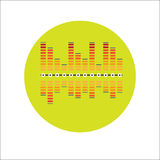 Equalizer. Music Equalizer Icon. Vector illustration Royalty Free Stock Image
