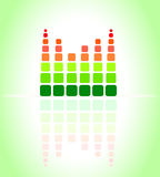 Equalizer music sound background graphic design.  Royalty Free Stock Photography