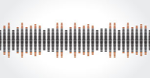 Equalizer music sound background graphic design Stock Image