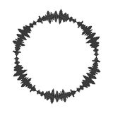 Equalizer music sound wave circle vector symbol icon design. Stock Images