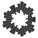 Equalizer music sound wave circle vector symbol icon design. Stock Image