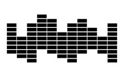 Equalizer music sound wave vector symbol icon design. Stock Photography