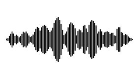 Equalizer music sound wave vector symbol icon design. Royalty Free Stock Photos