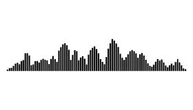 Equalizer music sound wave vector symbol icon design. Royalty Free Stock Images