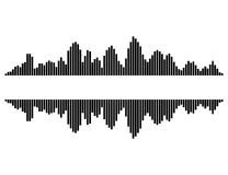 Equalizer music sound wave vector symbol icon design. Royalty Free Stock Image