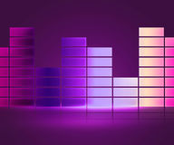 Equalizer Music Violet Background Stock Photography
