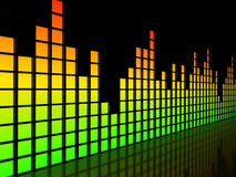 Equalizer over black background Stock Image