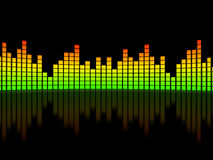 Equalizer over black background Royalty Free Stock Photos