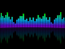 Equalizer over black background Stock Photo